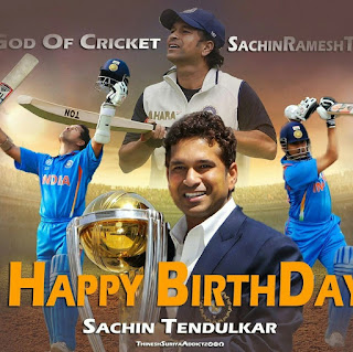 Famous Cricket Players Happy Birthday Sachin Tendulkar april 24 2018