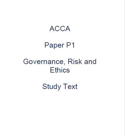 Free accounting b00ks acca p1 kaplan study text 2017 fandeluxe Choice Image