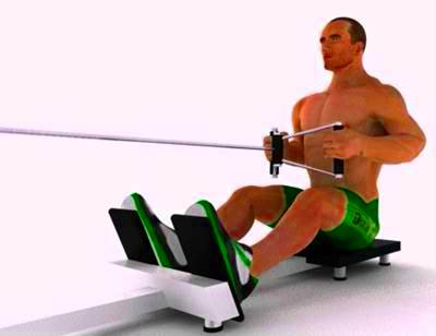 Seated rowing pulley