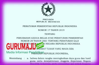 Peraturan Pemerintah (PP) Nomor 17 Tahun 2019 Tentang Peraturan Gaji Anggota POLISI