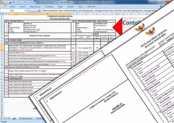 Contoh Aplikasi SKP Guru Golongan II dan Tabel Angka Kredit