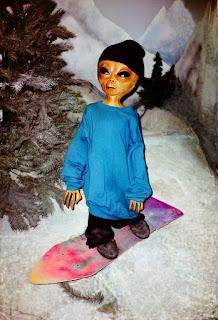 Do aliens ski or snowboard?