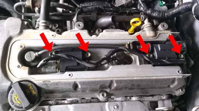 Suzuki Jimny ignition coil assembly securing bolts