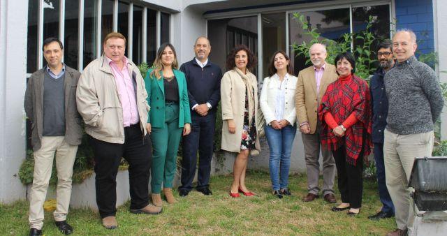 Patrick Puigmal vicerrector ULagos, recibió a directores de postgrado