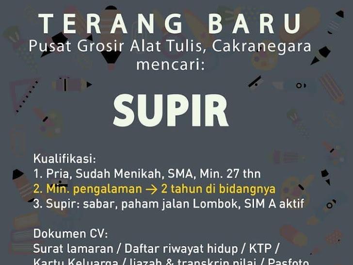Lowongan Kerja Terang Baru Cakranegara Mataram Lombok NTB