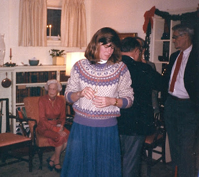 Great Aunt Susan at Christmas, 1987??  https://www.etsy.com/shop/JeannieGrayKnits