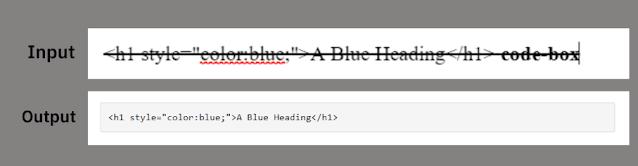 Insert code box in blogger blog post
