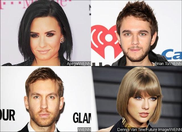 Demi Lovato y Zedd se ponen del lado de Calvin Harris en la pelea con Taylor Swift.