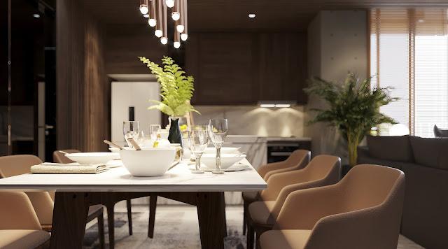 客廳與開放式餐廚