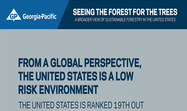 Georgia-Pacific forest for trees #infographic