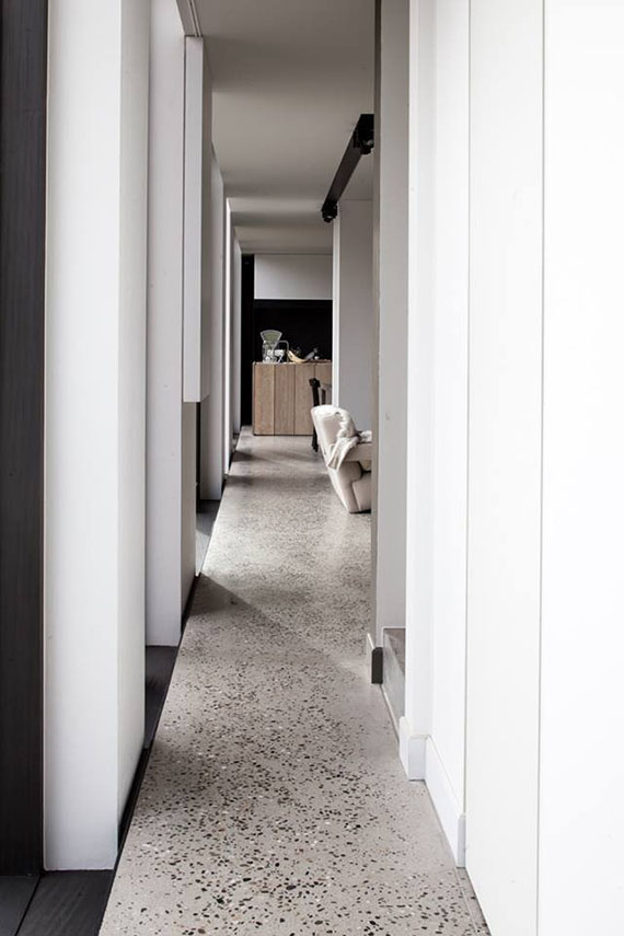 Terrazzo floor in private residence by Frederic Kielemoes