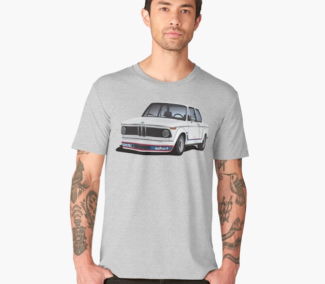 BMW 2002 Turbo t-shirt tribute to legends