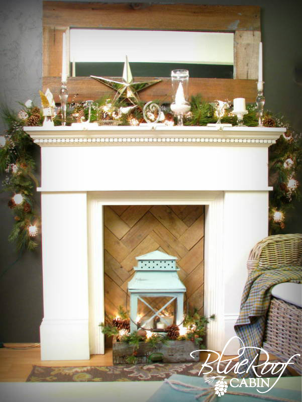 Blue Roof Cabin Christmas Mantel