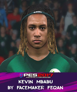 PES 2017 Faces Kevin Mbabu by Feqan