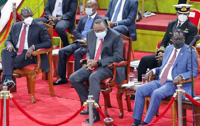 President Uhuru Kenyatta and ODM Chief Raila Odinga