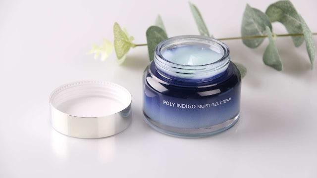 Poly Indigo Moist Gel Cream dari Jejuindigo yang bisa mencegah penuaan dini