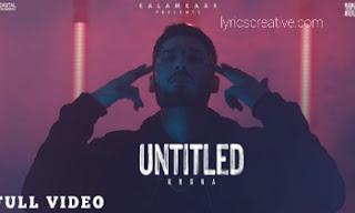 Untitled Lyrics | Krsna | by lyricscreative