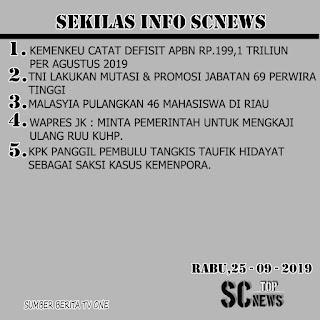SEKILAS INFO SCNEWS 25/09/19