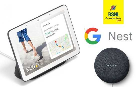 Now BSNL customers can get Google Nest Mini and Google Nest Hub with one month free broadband / FTTH subscription