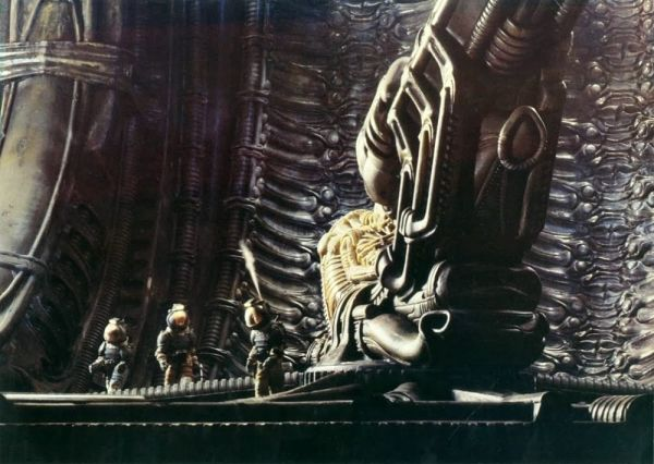 "The astronauts with the ""Space Jockey"" in Alien"