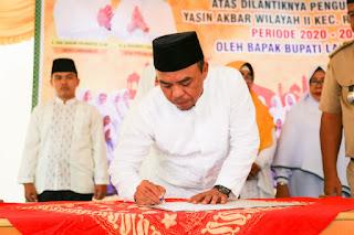 Bupati Labuhanbatu Lantik Pengurus Majlis Ta'lim Yasin Akbar Rantau Selatan