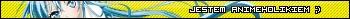 Userbar z hasłem Jestem animeholikiem w kolorze żółtym