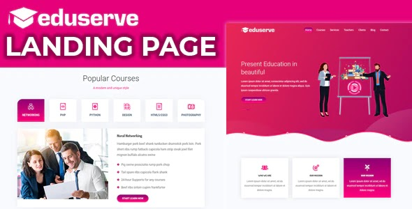 Educational Landing page Template