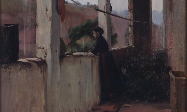 Tarda de pluja, de Santiago Rusiñol.