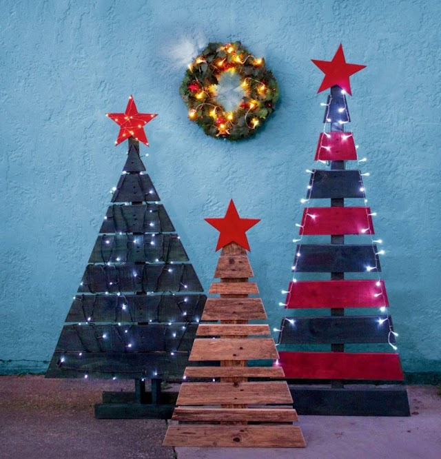How to make a pallet Christmas tree & more