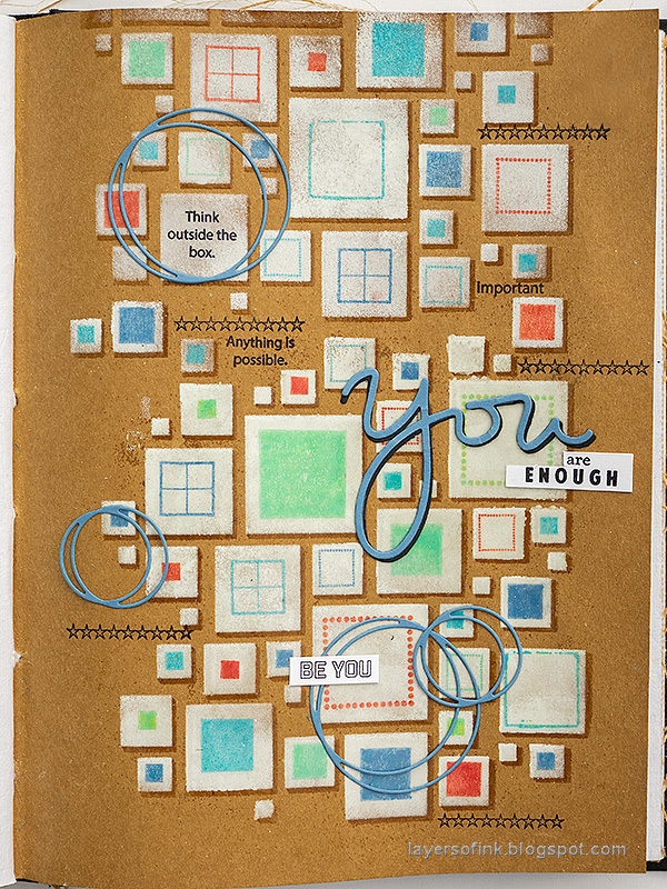 Layers of ink - Shadow Stenciling and Stamping Tutorial by Anna-Karin Evaldsson. With Simon Says Stamp Mix and Match Squares.