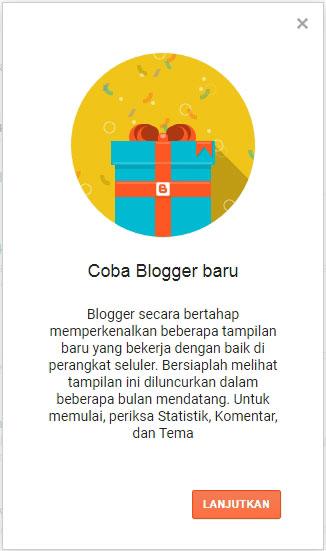 tampilan blogger baru