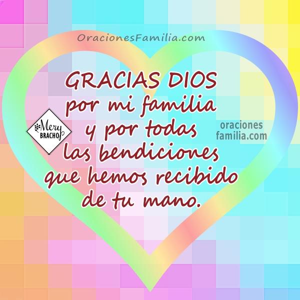 tarjeta oracion por la familia gracias a Dios thanksgiving imagen por mery bracho