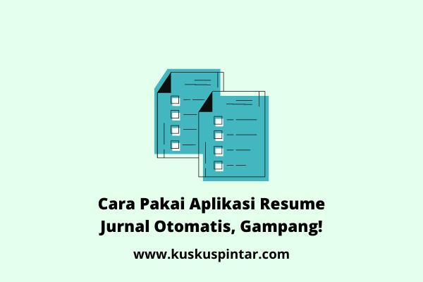 Aplikasi Resume Jurnal