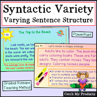 lesson on teaching kids to vary sentence structure