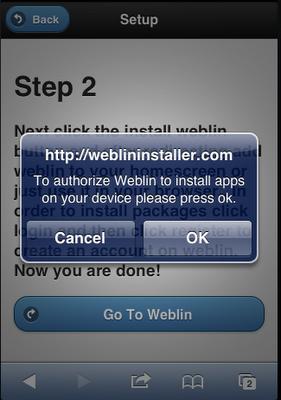 Install Weblin