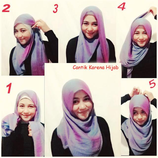 Cara Memakai Jilbab Segi Empat Yang Simpel dan modis