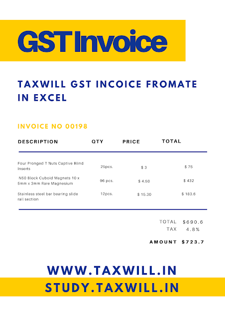 tax invoice format under gst