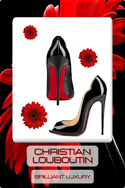 ♦Christian Louboutin Black Accessories #shoes #bags #christianlouboutin #louboutinworld #hotred #brilliantluxury