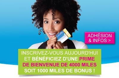 Carte de fidélité Air Caraibes : Préférence