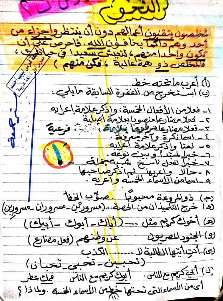 مراجعة اللغة العربية للصف السادس الابتدائي ترم ثاني أ/ جمعة قرني لبيب 1