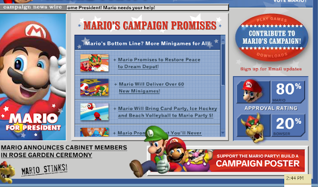 Mario Party 5 election campaign marketing results Bowser rigged
