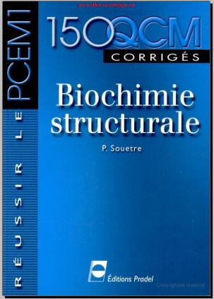 Livre : Biochimie structurale 150 QCM corrigés - Telecharger Gratuitement