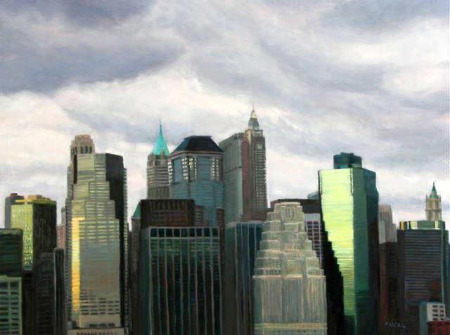 Городской пейзаж. Patty Neal 6