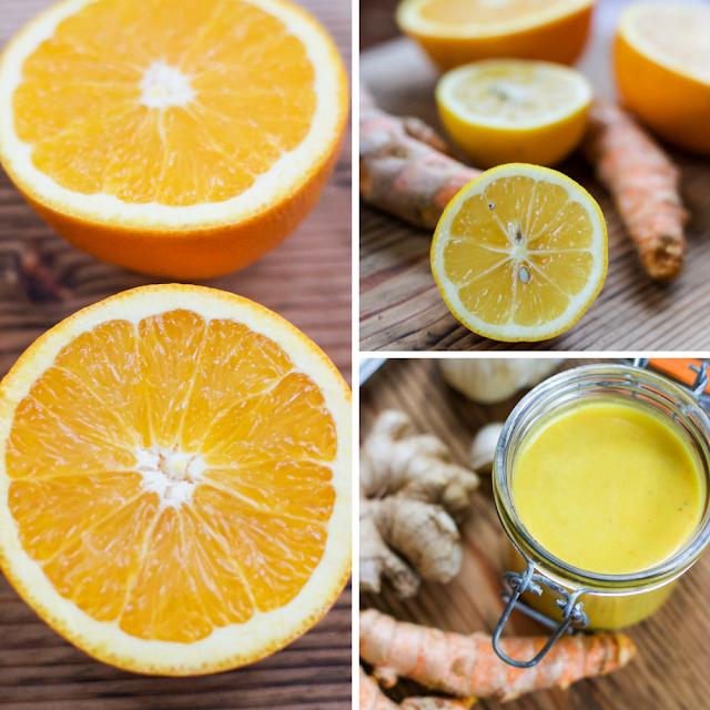 turmeric, lemon, anti-inflammatory, health, gluten-free, vegan, orange