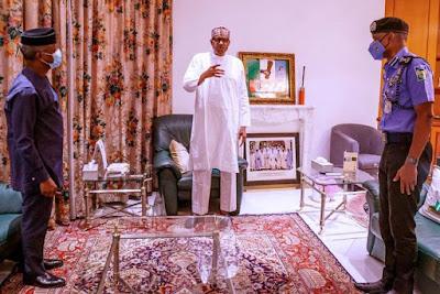 President Buhari, VP Osibanjo, IGP Adamu