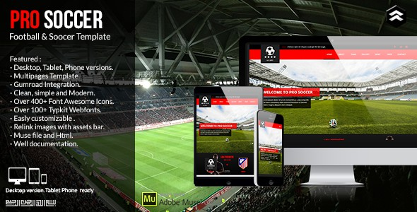 Best Responsive Sports Club Website Theme