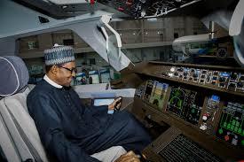 Buhari in jet