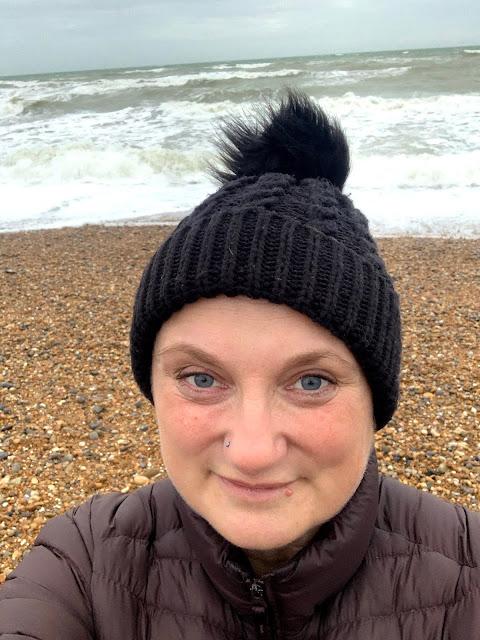madmumof7 on Brighton beach with nose piercing