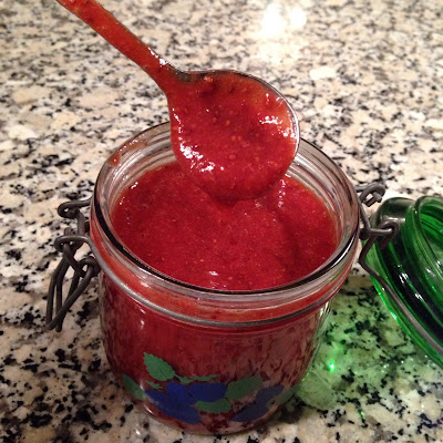 sukkerfri jordbærsauce til chiaalamande