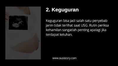 penyebab janin tidak terlihat saat USG